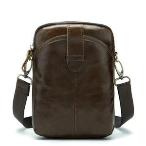 Image 4 -  Vintage Men Messenger Bags Genuine Leather Male Mini Travel Bag  Man Shoulder Bags Small Crossbody Bag For Mens Men Leather Bag