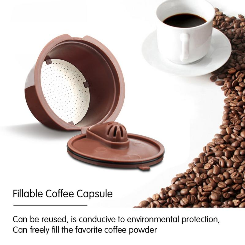 1/2/3PCS Coffee Filter Basket Capsules Reusable Refillable Nescafe Capsule Cup Cafeteira For Dolce Gusto Coffee Capsule Caps