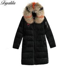 2feb4b9b525e Samt Parka Warme Pelz Haube Winter Mantel Lange Frauen Unten Jacke Baumwolle  Gepolsterte Weiblichen Mantel Oberbekleidung Mit Ka.