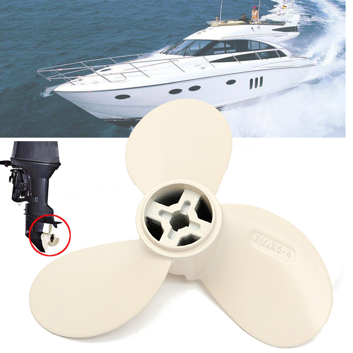 Marine Boat Propeller For Yamaha Outboard Part Aluminum Alloy 2 Stroke 2HP  2 5HP Outboard Motor for