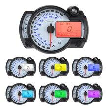 Motorcycle Digital Light LCD Speedometer Odometer Tachometer Speed Sensor LCD 7-color Display oil level meter Modern Universal все цены