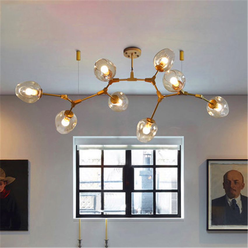 Nordic Modern Molecular Magic Bean Branch Pendant Lights Italian Led Hanging Lamp For Dining Room Kitchen Avize Lustre Lighting Ceiling Lights & Fans