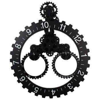 DIY Reloj de pared de movimiento de cuarzo grande elementos de engranaje mecánico decorativo Steampunk gran mes/Fecha/Hora rueda Relojes de pared