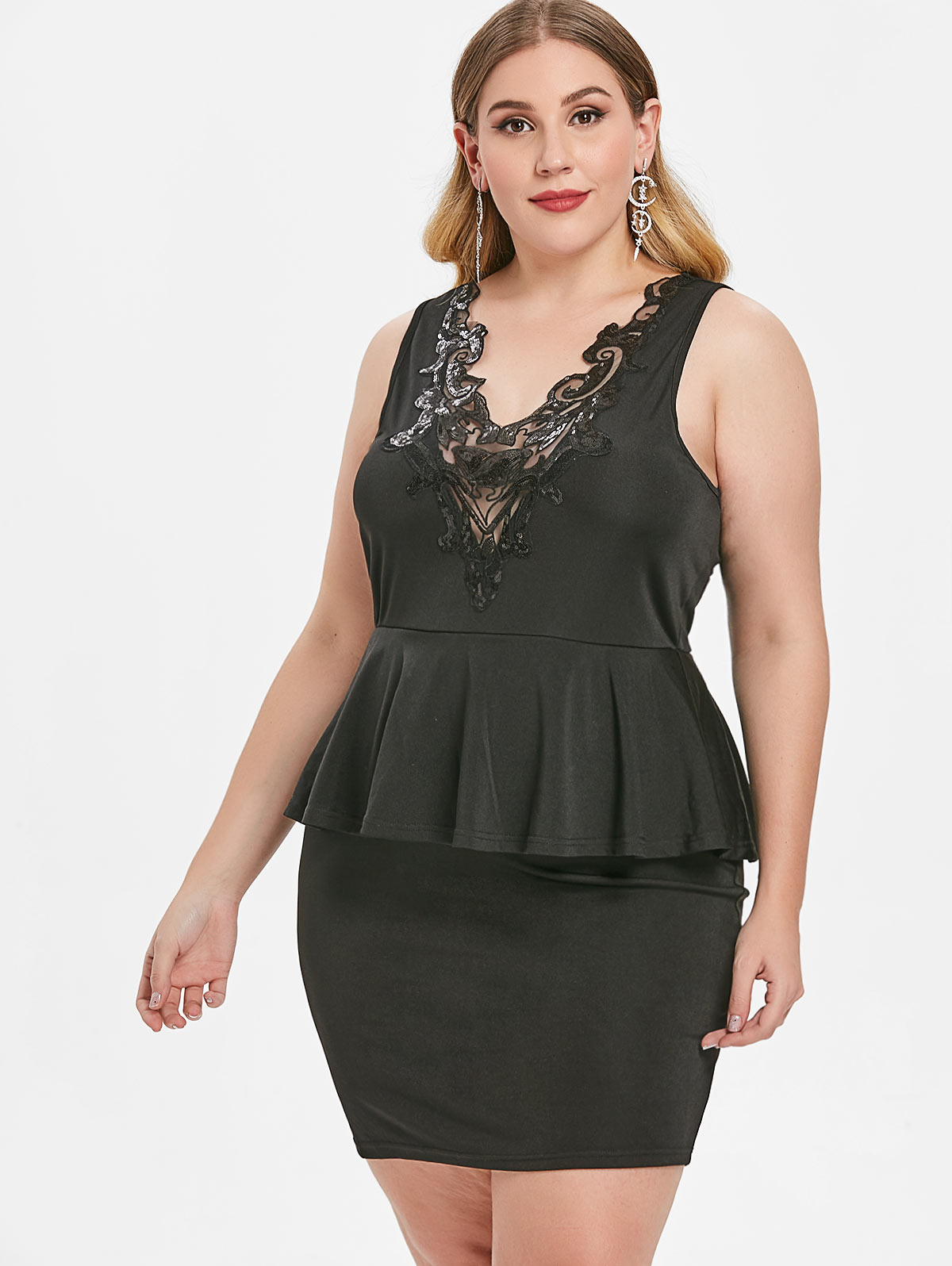 Buy sequin peplum dress and get free shipping on AliExpress.com e1a48bd53fe6