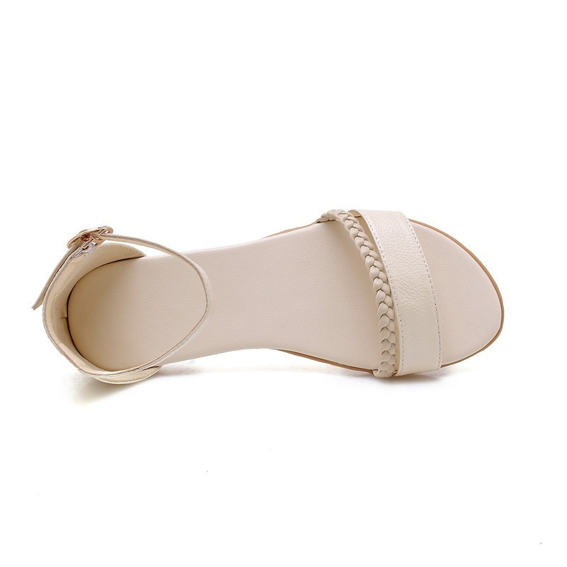 Image 5 - YOUGOLUN Women Flat Sandals New Arrived Ladies Summer Casual Shoes Sexy Woman White Black Beige Ankle Buckle Strap Sandal A032-in Women's Sandals from Shoes