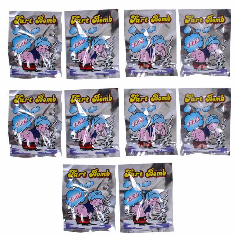 10 ADET Yeni Komik Şok Oyuncaklar Patlama Kokulu Paketi Tüm Insanlar Oyuncak Koku Osuruk Paketleri Koku YJS Dropship