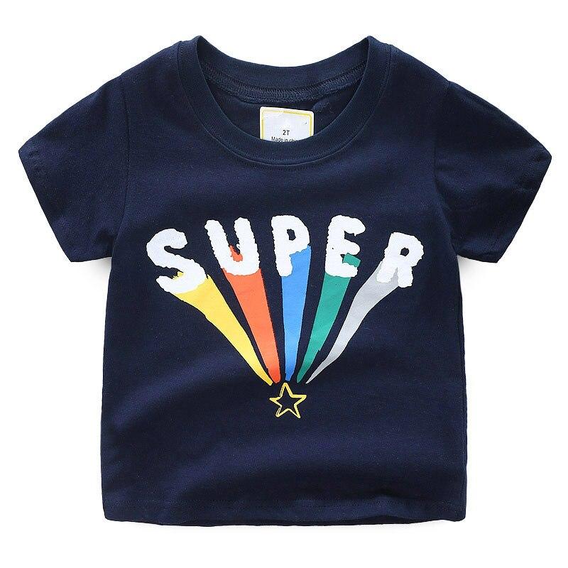 Jumpingbaby 2019 Boys T shirt Summer Tops Kids Clothes Animal Print Tshirt Koszulka Dinosaur T shirts Enfant Tee shirt Costumes in T Shirts from Mother Kids
