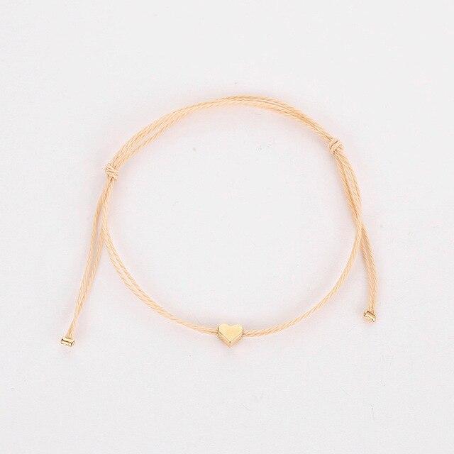 Фото крошечное простое любовное сердечко веревка цепь браслеты для цена