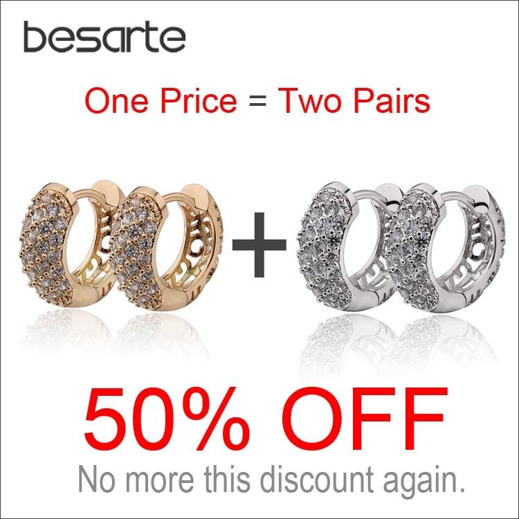 Two PCS 50% OFF Gold Filled Earring CC Hoop Earrings For Women Brinco Bijoux Jewelry Earings Fashion Pendientes Aros Kupe E2149 crucifixo pingente de ouro masculino