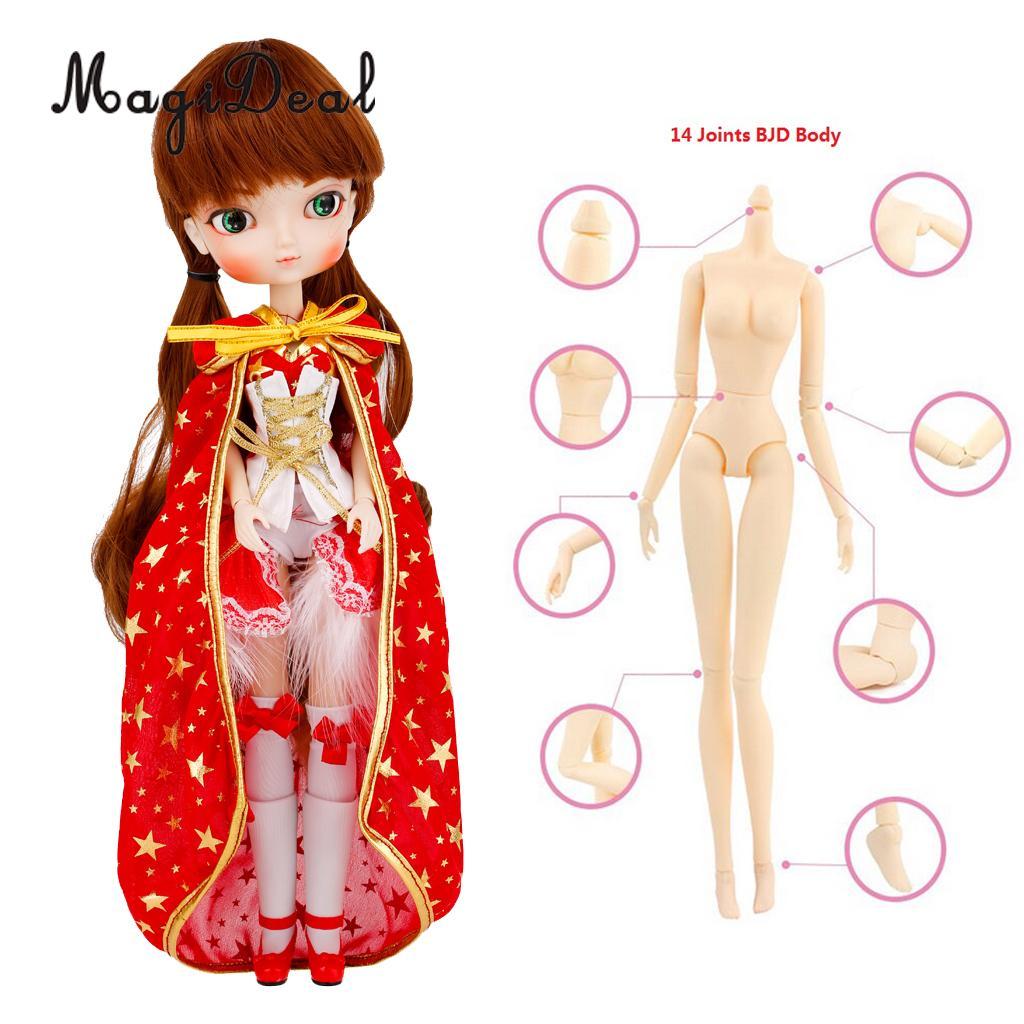 Détachable 14 articulations maquillage BJD SD fille poupée 1/6 balle articulée poupée Collections jeu ensemble de noël nouvel an anniversaire boîte-cadeau