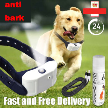 Petrainer Citronella Dog Training Collar Electric Remote Shock Collar Mist Spray Noise Earmuffs