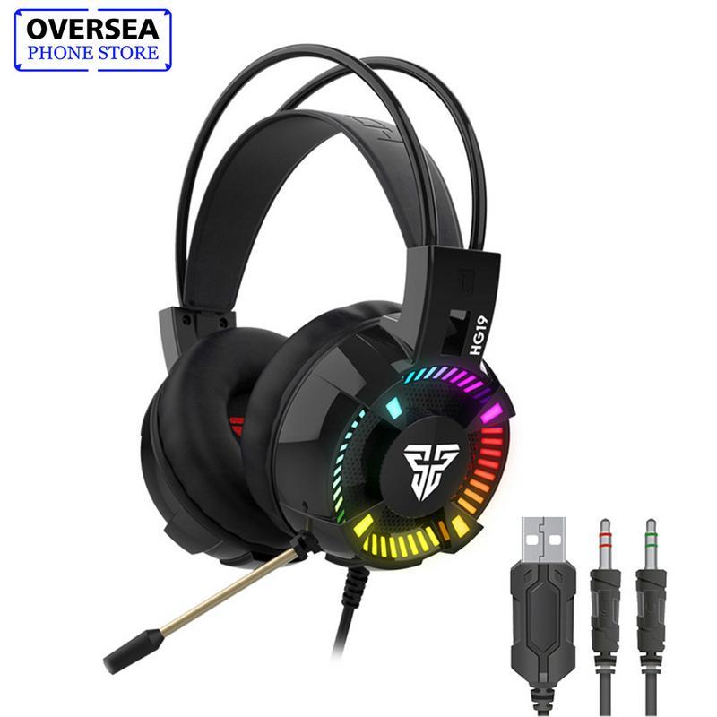 FANTECH HG19 7.1 Channel LED RGB Light Gaming Headset Gamer Earphones With Mic Revolution Volume Control Noise For PC