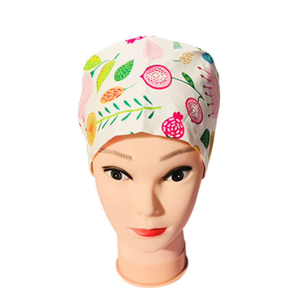 Women Surgical Cap Doctor Nurse Medical Cap Woman Beautician Cap Printing Cotton Dome Scrub Hat Surgical Cap For Doctor Nurse