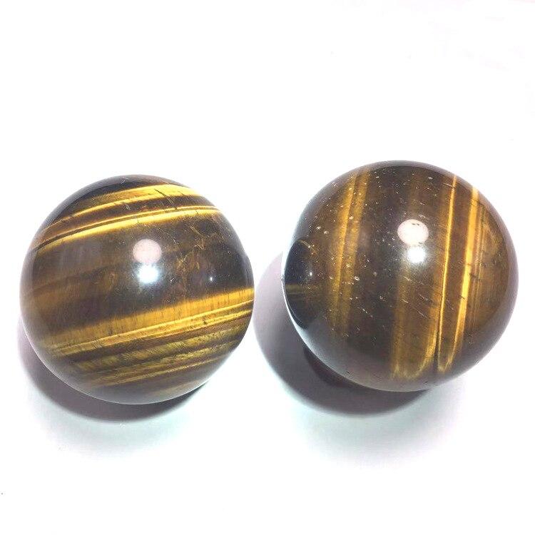 Natural tiger eye stone fitness ball handball crystal feng shui decoration natural