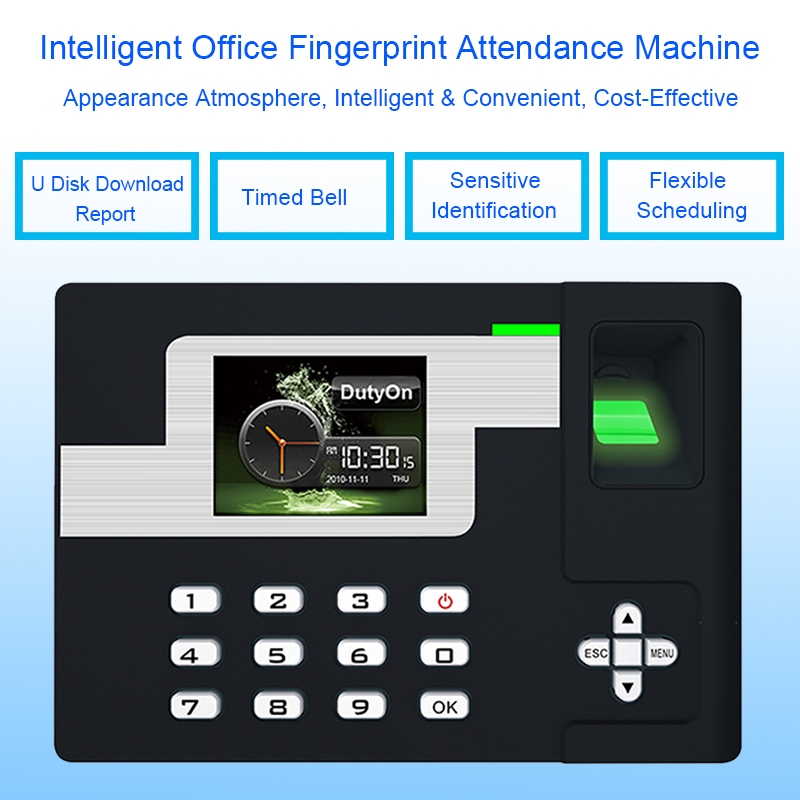 Biometric Time Attendance System TCP/IP USB Fingerprint Attendance Access Control Time Clock Employees Device Fingerprint Reader