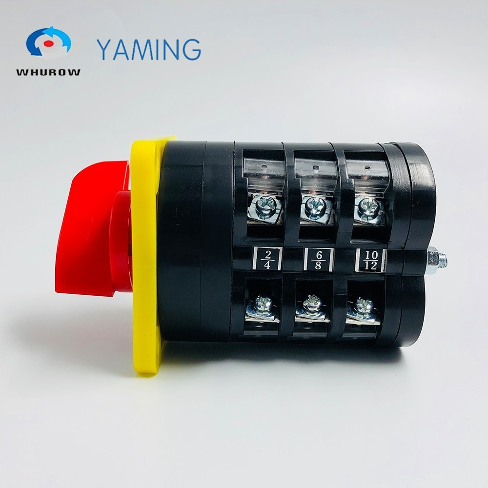 0 6 position manual electrical Rotary Switch 16A 660V 3 poles Custom Cam Changeover switches universal Silver contact LW5 16 3 in Switches from Lights Lighting