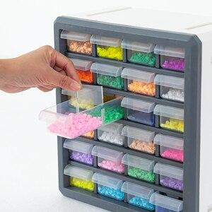 Image 2 - BNBS органайзер для косметики, ящик для хранения игрушек, инструменты, пластиковая коробка с 24 ящиками, косметический Органайзер