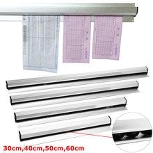 Bilhete de cozinha, barra de armazenamento de bilhete de 30cm, 40cm, 50cm e 60cm, suporte de conta, receptor, rack de pendurar para cozinha organizador de bilhete de ferramenta,
