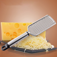 Мельница терка для сыра из нержавеющей стали с длинной ручкой овощи кухонный инструмент ручной тонкой сетки ручной резак#05