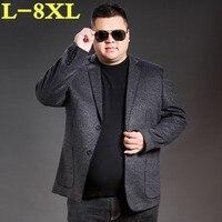 Плюс размеры 8XL высокое качество поступление брендовая одежда Весна и осень костюм мужской модный блейзер мужской костюмы повседневное муж