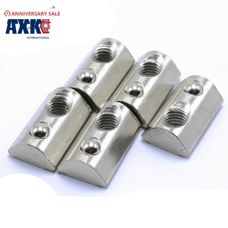 AMONIDA Elastic Nut Half Round Nut M6 Nickel-Plated Fasteners Carbon Steel for CNC Lasers Cutters CNC Plasma Cutters