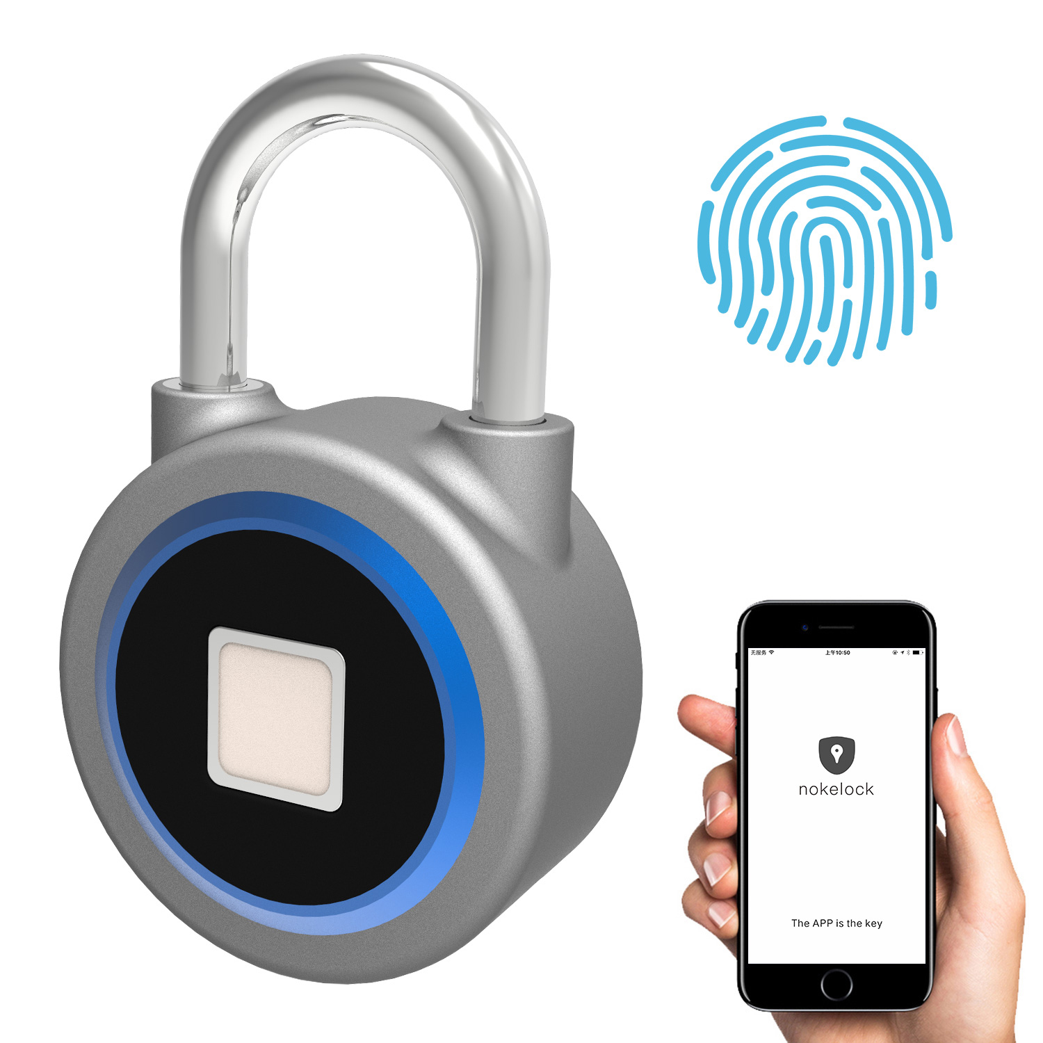 Creative Smart Padlock Electronic Lock Warehouse Door Security Door Lock Dormitory Cabinet Bedroom Bluetooth Fingerprint Padlock bluetooth fingerprint padlock outdoor door padlock smart fingerprint padlock door locks fingerprint electronic door lock