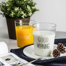 1 pcs Lovely Glass Breakfast Cup Coffee Tea Milk Yogurt Mug Creative Good Morning Mug Gifts 400ml
