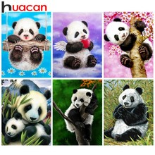 Huacan Diamond Painting Animal Diy Mosaic Full Square Embroidery Panda Rhinestones Picture Home Decor