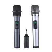 LEORY K380A 6.5mm 10 Channels Microphone UHF Digital Wireless Microphone System for KTV Education