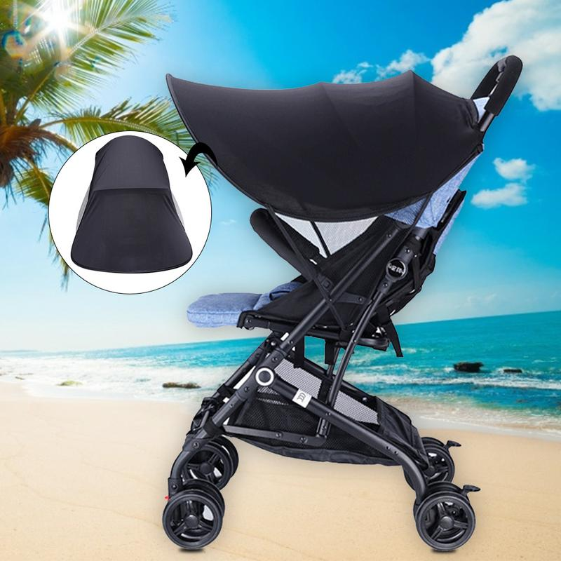 Baby Stroller Sunshade Canopy Cover Pram Accessories Sun Visor Mosquito Netting Infant Carriages Pushchair Sun Shade Cover