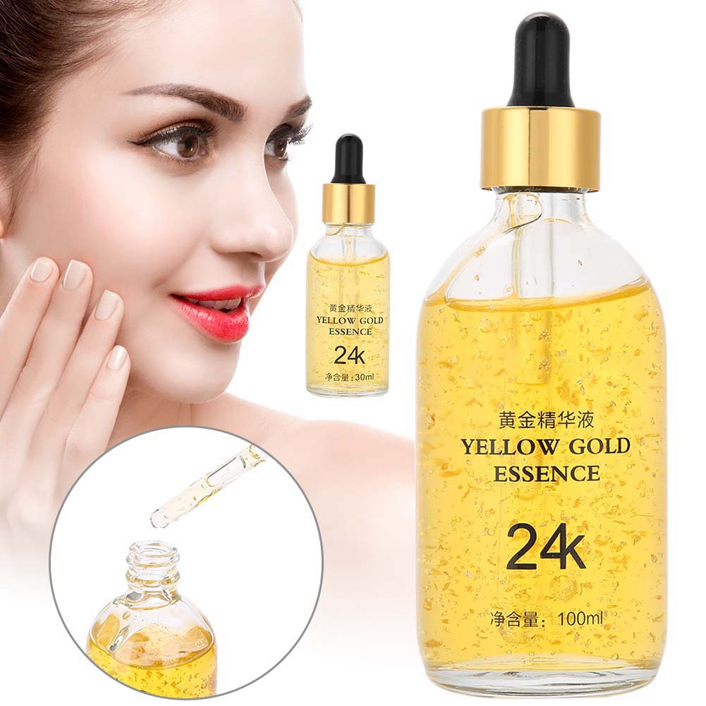 Hydration Skin Care: 2 Types 24K Gold Hydrating Essence Brightening