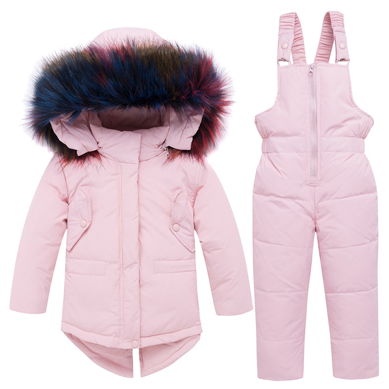 Russia Winter Children s Clothing Sets Girls Clothes for New Year s Eve Solid Color Big