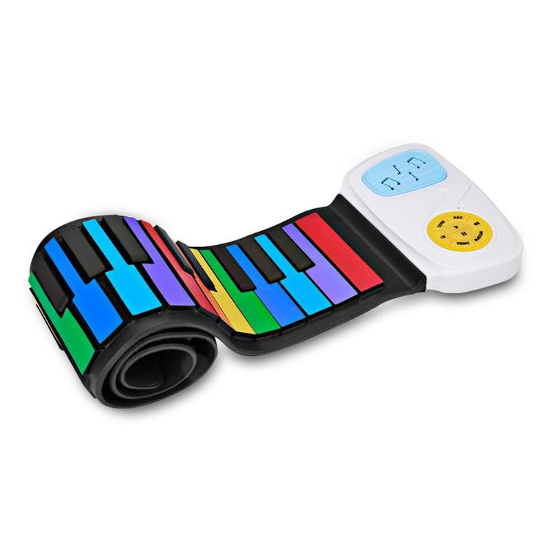 49 Keys Hand Roll Keyboard Portable Soft Silicone Foldable Roll Up Piano Children Student Musical Instrument Electronic Keyboard49 Keys Hand Roll Keyboard Portable Soft Silicone Foldable Roll Up Piano Children Student Musical Instrument Electronic Keyboard