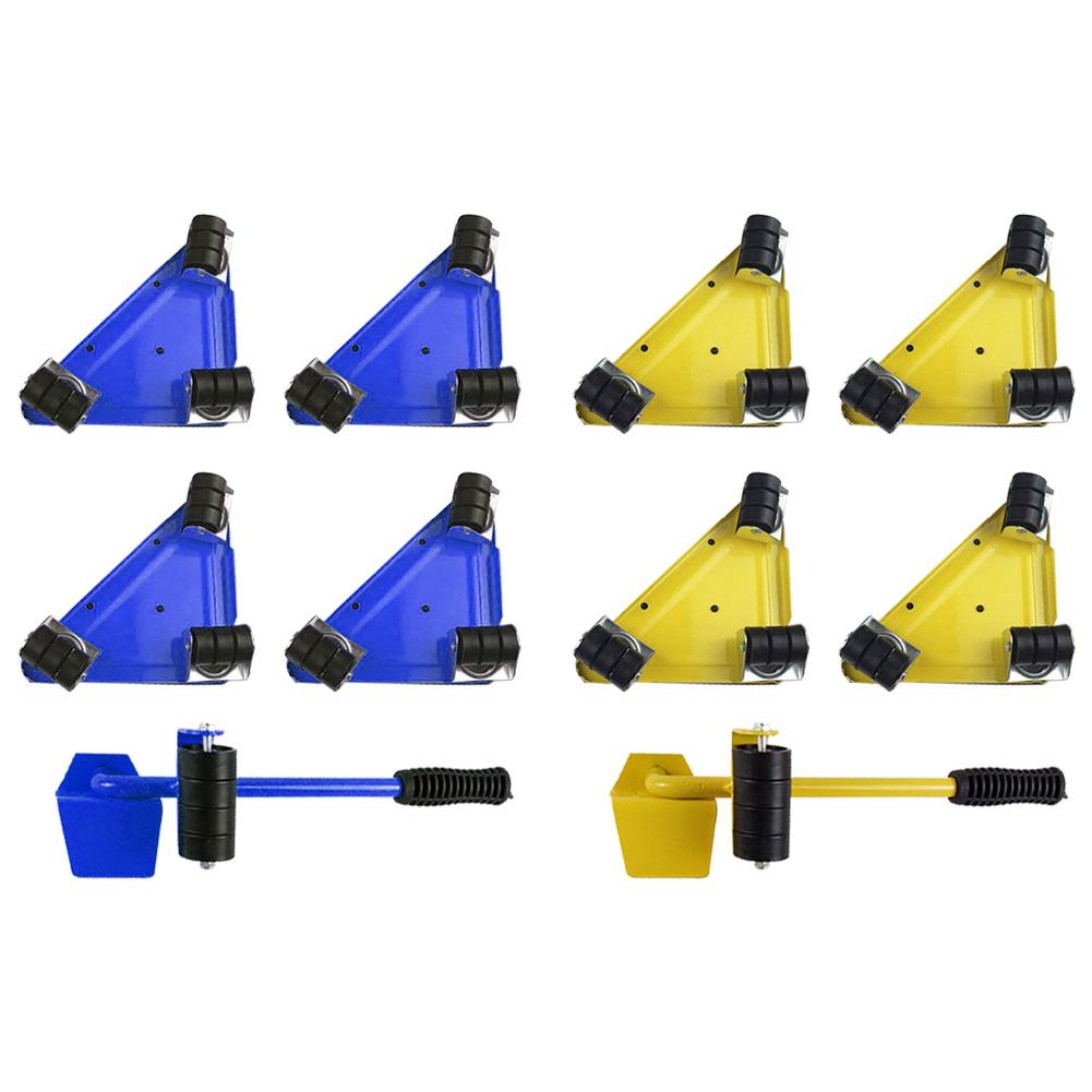 5pcs Moves Furniture Tool Transport Shifter For Heavy Duty Object Moving Wheel Slider Remover Roller Heavy Home Gadgets Tools