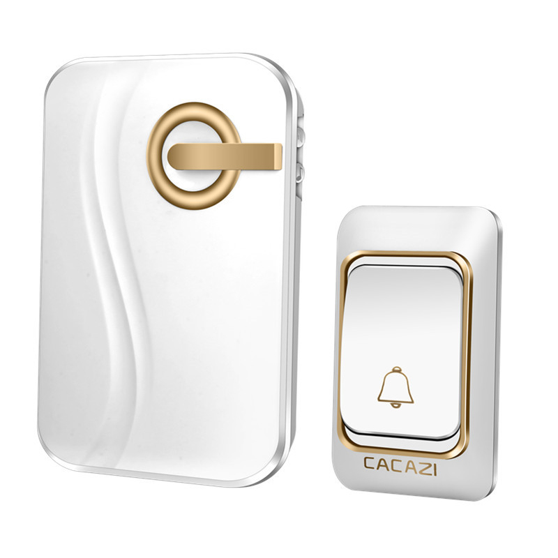 JABS Cacazi Wireless Doorbell Battery-Operated 200M Remote Waterproof 1 Transmitter 1 Receiver 36 Rings Door Chime Cordless Be