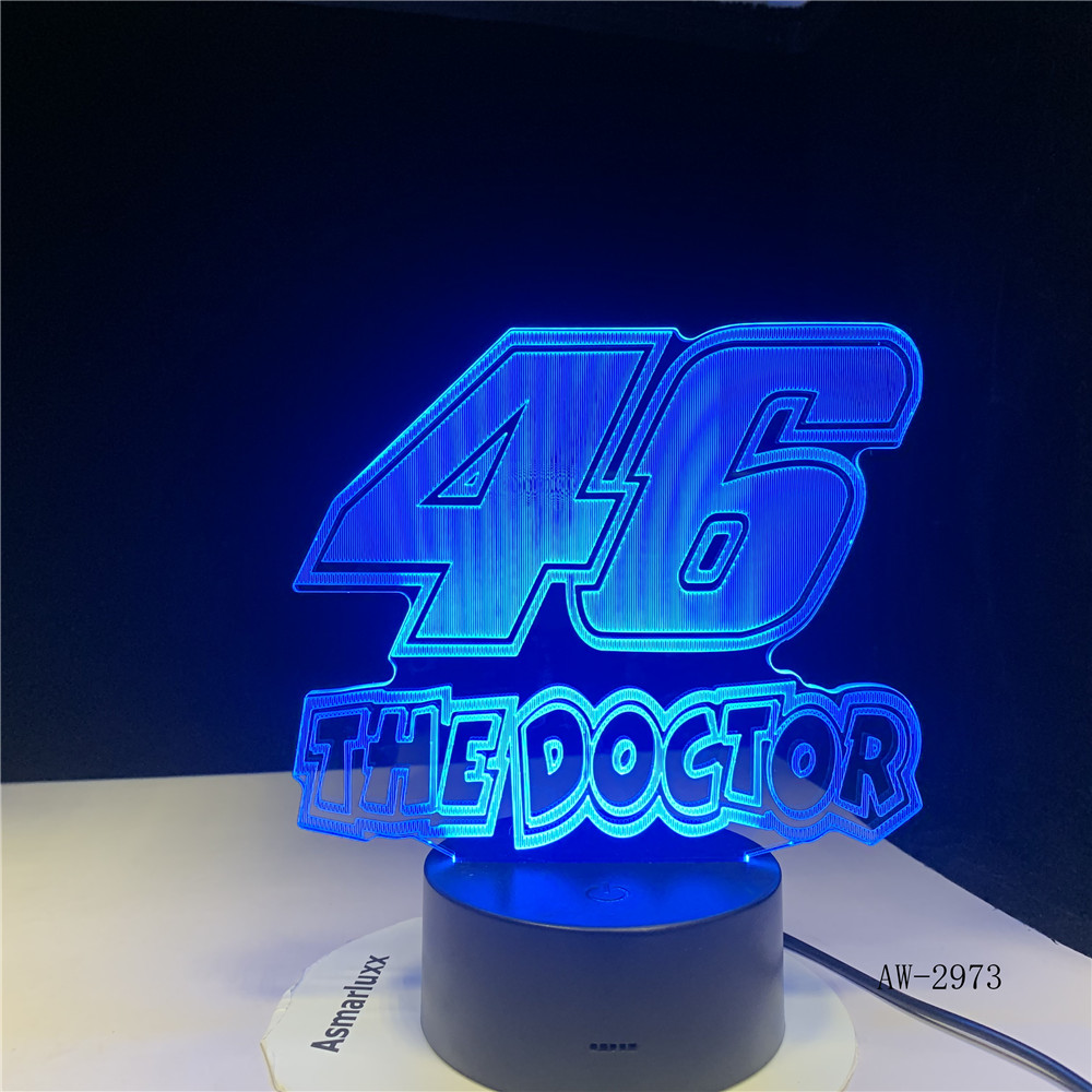 46 The Doctor 3D LED LAMP NIGHT LIGHT Drop Shipping Hot RGBW Bulb Christmas Decorative Gift Cartoon Toy Luminaria AW-2973