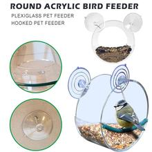 Round Bird Feeder window bird feeder For budgie feeder Hanging Feed sparrow cage In The Birdhouse Window Bird Feeder Bird Cage peter kellogg bird songs in literature