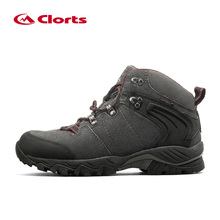 Clorts men's hiking shoes Autumn Winter Genuine Leather mens high cut Waterproof