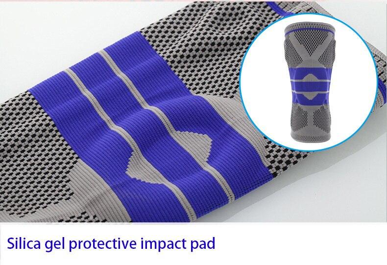 Para la persona gorda S-5XL más el baloncesto apoyo silicio acolchado rodilla almohadillas de apoyo Brace Patella Protector rodillera