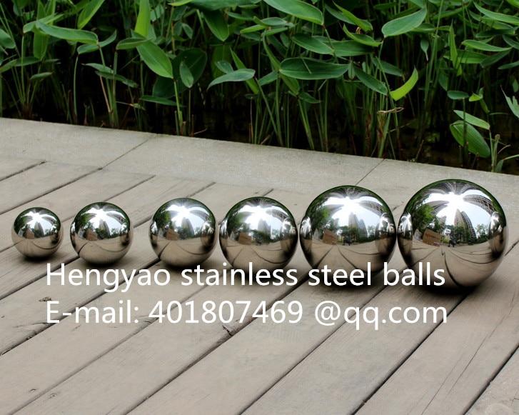 Gümüş Dia 200mm 20cm 304 paslanmayan polad içiboş top sorunsuz - Ev dekoru - Fotoqrafiya 3