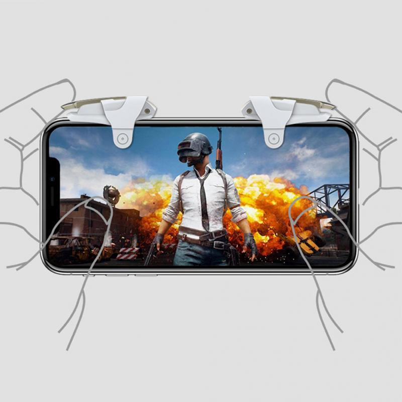 Image 5 - 1Pair Mobile Phone Gaming Trigger Controller Shooter Fire Button Handle For PUBG/Rules Of Survival #1102-in Gamepads from Consumer Electronics
