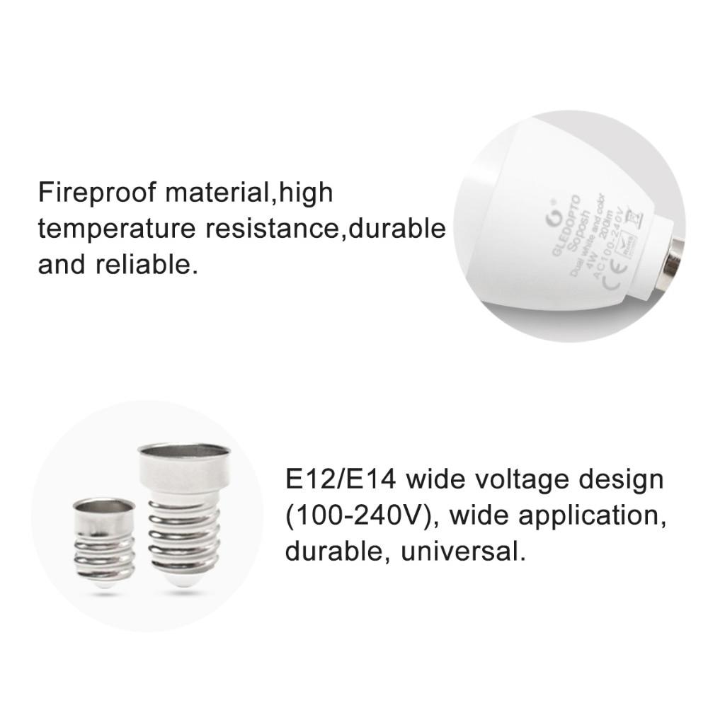 Купить с кэшбэком Zigbee ZLL Candle LED Light Bulb E14 E12  4W RGBCCT RGBW RGBWW CW Smart APP Control 110V 220V 230V 240V Work with Amazon Echo