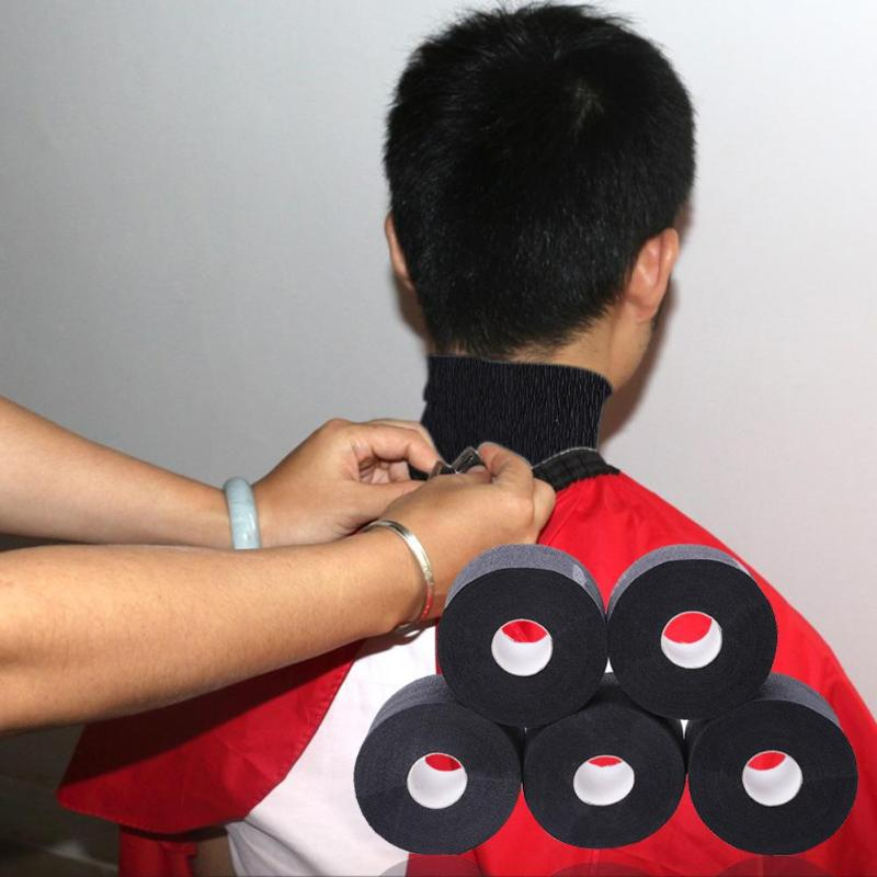 5 Rolls Necks Cover Ruffle Roll Paper Professional Hair Cutting Salon Tool Hairdressing Collar Neck Ruffle Roll