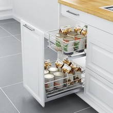 Corredera Alacena Keuken Almacenaje Armario Platos Stainless Steel Organizer Cocina Kitchen Cabinet Cestas Para Organizar Basket