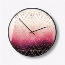 New 3D Wall Clock Creative Gradient 35cm Quartz Modern Design Mute Movement Duvar Saati Large Size For Living Room