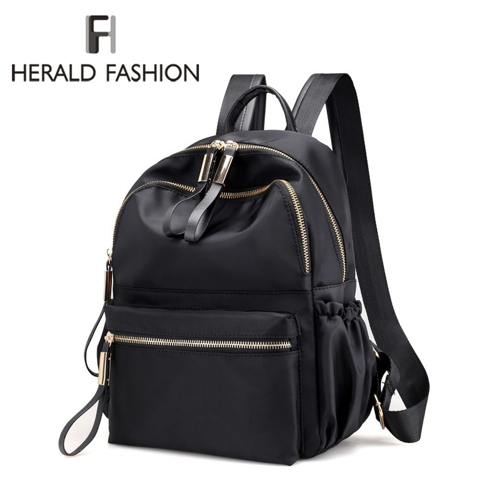 Herald Fashion Backpack Women Leisure Back Pack Korean Ladies Knapsack Casual Travel Bags for School Teenage Girls Bagpack(China)