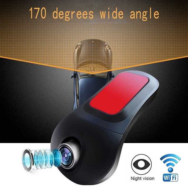 Audew Mini Wifi Car DVR Camera Night Vision Dual Lens Video Recorder Car DVRs Dashcam