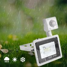 Outdoor Solar Light AC 220V 10W Waterproof 10LED Spotlight Human Body Sensor Wall For Garden Courtyard