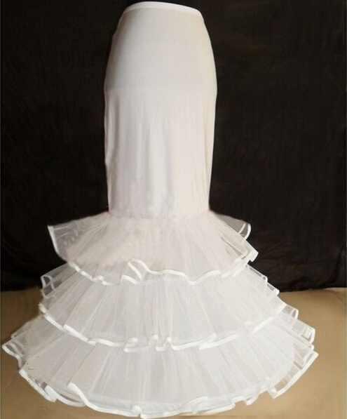 جديد طويل العروس تنورات الأبيض 1 هوب 3 طبقات فستان رسمي تنورة كرينولين حورية البحر مشد اكسسوارات الزفاف