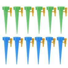 12 шт./компл. автоматического капельного полива Системы автоматического полива Спайк для красивыми растениями цветком домашняя обувь отверстие поилки для бутылки